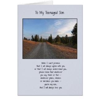 Para mi hijo adolescente tarjeta de felicitación