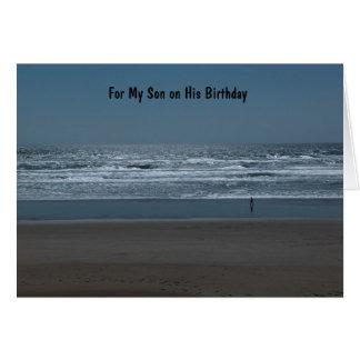 Para mi hijo en su cumpleaños tarjeta de felicitación