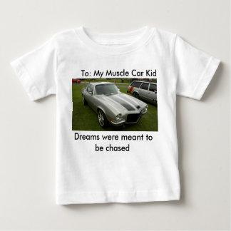 Para: Mi niño del coche del músculo Camiseta De Bebé