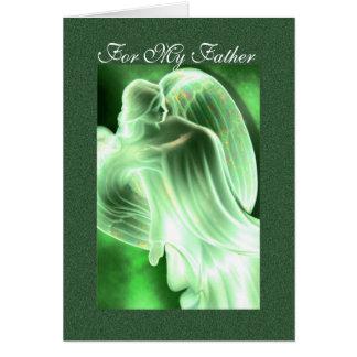 Para mi padre - tarjeta de felicitación del ángel