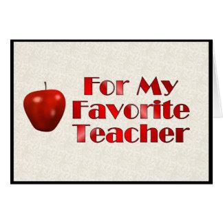 Para mi profesor preferido tarjetas
