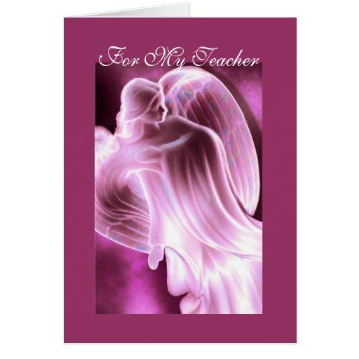 Para mi profesor - tarjeta de felicitación rosada