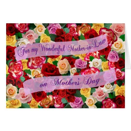 Para mi suegra maravillosa el el día de madre felicitación