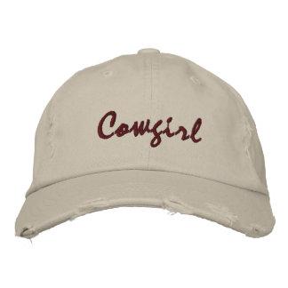 Para mujer de piedra bordado vaquera del casquillo gorra de beisbol