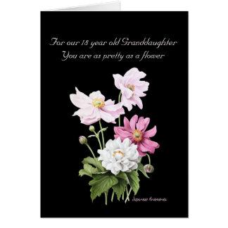 Para nuestra nieta de 18 años tarjeta