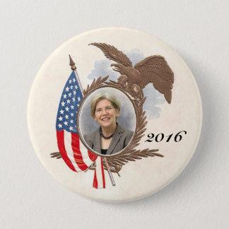 Para presidente en 2016 Elizabeth Warren Chapa Redonda De 7 Cm