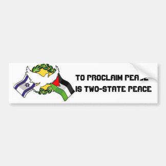 Para proclamar paz es dos… etiqueta de parachoque