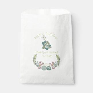 Para siempre bolsos de encargo del favor del boda bolsa de papel