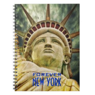 Para siempre cuaderno de la foto de Nueva York