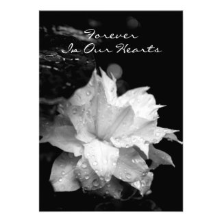 Para siempre en… Invitación conmemorativa fúnebre