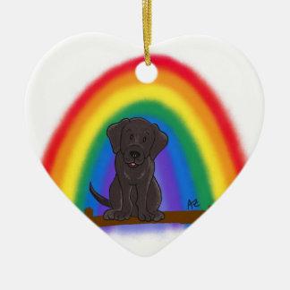 Para siempre en mi ornamento del corazón adorno navideño de cerámica en forma de corazón