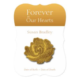 Para siempre en nuestros corazones subió 1 - invitación 12,7 x 17,8 cm