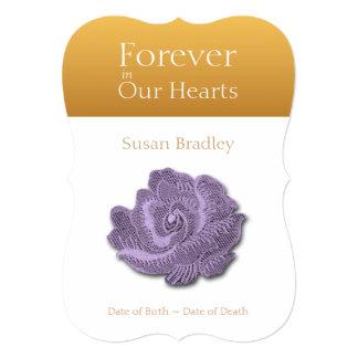 Para siempre en nuestros corazones subió 2 - invitación 12,7 x 17,8 cm