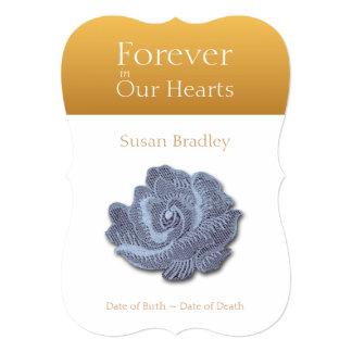 Para siempre en nuestros corazones subió 3 - invitación 12,7 x 17,8 cm