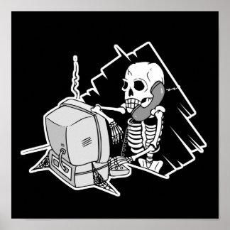 para siempre esqueleto en soporte técnico del asim póster