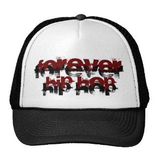 Para siempre gorra blanco y negro de Hip Hop