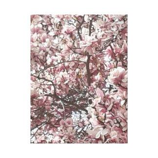 Para siempre impresión de la lona de la magnolia