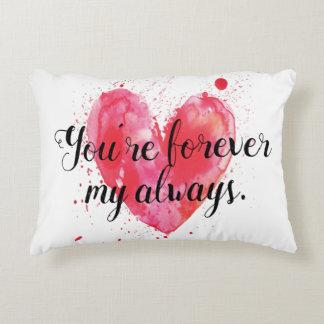 Para siempre mi siempre almohada del acento