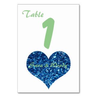 Para siempre números de los corazones tarjeta