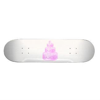 Para siempre pastel de bodas rosado del amor patines personalizados