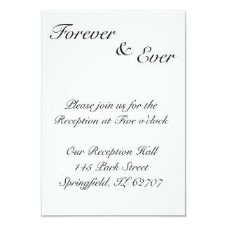 Para siempre y nunca tarjetas de la recepción invitación 8,9 x 12,7 cm
