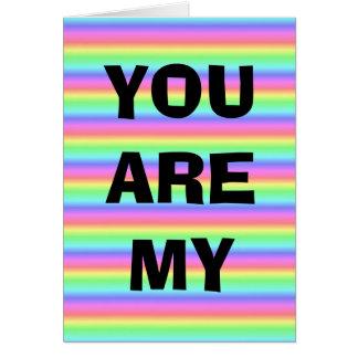 Para siempre y siempre tarjeta del arco iris LGBT