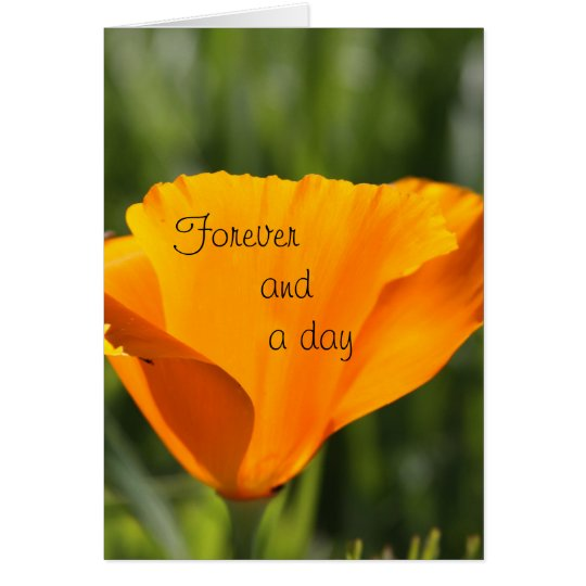 Para siempre y un día tarjeta de felicitación