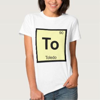Para - símbolo de la tabla periódica de la química camisas