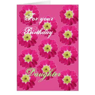 Para su hija del cumpleaños (nuera) tarjeta de felicitación
