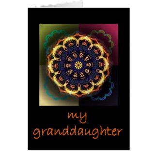 Para su nieta querida tarjeta de felicitación