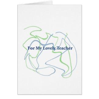 Para su profesor tarjeta de felicitación