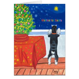 Para tarjeta de Navidad de Santa que espera