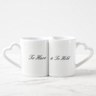 Para tener y sostener taza de café fijada