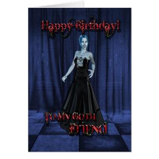 Para un amigo del gótico una tarjeta de cumpleaño