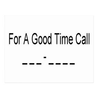 Para un buen _del _del _de la llamada del tiempo - postal