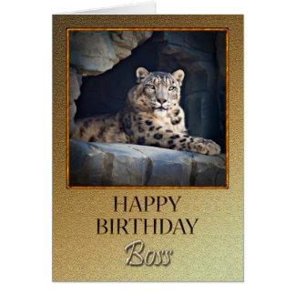 Para un cumpleaños de Boss con una onza Tarjeta De Felicitación