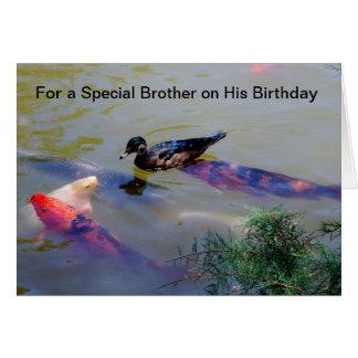 Para un hermano especial en su cumpleaños tarjeta de felicitación