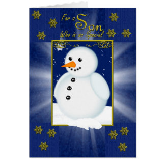 Para un hijo especial en navidad tarjeta de felicitación