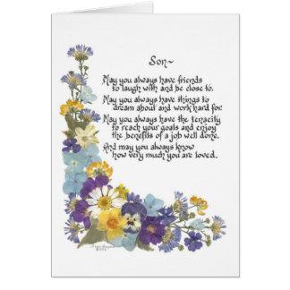 Para un hijo… tarjeta de felicitación