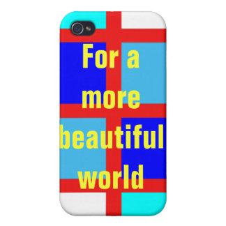 Para un mundo más hermoso iPhone 4/4S carcasa