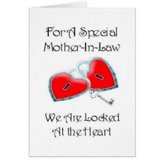 Para un poema especial de la suegra con los tarjeta de felicitación
