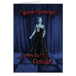 Para un primo del gótico una tarjeta de cumpleaño