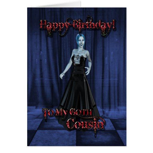 Para un primo del gótico, una tarjeta de cumpleaño