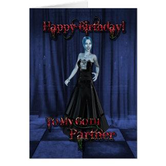 Para un socio del gótico, una tarjeta de cumpleaño