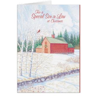 Para un yerno especial en el navidad tarjeta de felicitación
