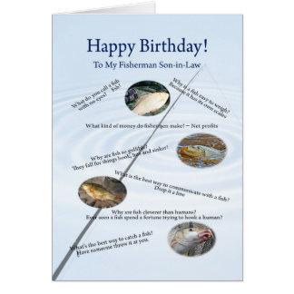 Para un yerno, pescando bromea tarjeta de