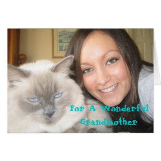 Para una abuela maravillosa tarjeta de felicitación