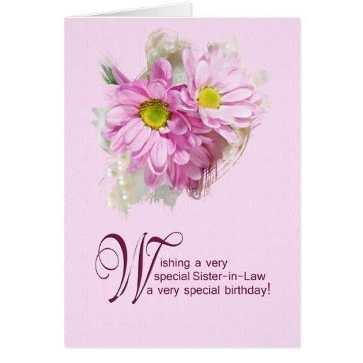 Para una cuñada, una tarjeta de cumpleaños con las