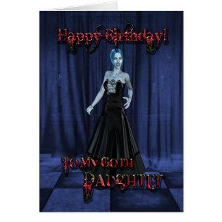 Para una hija del gótico una tarjeta de cumpleaño
