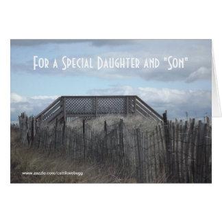 """Para una hija y un """"hijo especiales """" tarjeta de felicitación"""